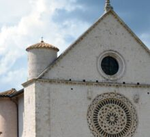 White church from Assisi. Sticker