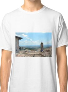 Roof tops and landscape from Assisi. Classic T-Shirt