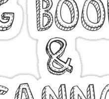 I like big books Sticker