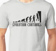 Rock Climbing Evolution Continues Unisex T-Shirt