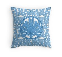 Anémones bleues Throw Pillow