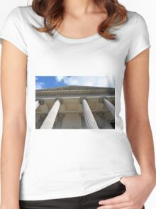 Ionic temple with columns in Genova. Women's Fitted Scoop T-Shirt