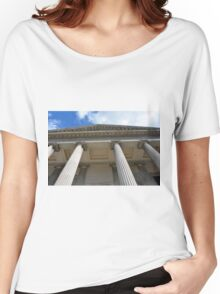 Ionic temple with columns in Genova. Women's Relaxed Fit T-Shirt