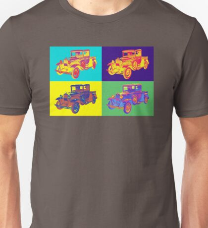 Colorful 1930 Model A Ford Pickup Truck Pop Art Unisex T-Shirt