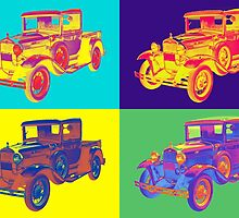 Colorful 1930 Model A Ford Pickup Truck Pop Art by KWJphotoart