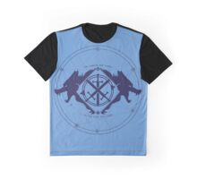 Strength of the Wolf [D.Blue / L.Blue] Graphic T-Shirt