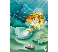 How mermaids get new books Photographic Print