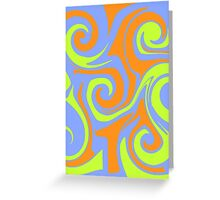 Swirly colors Greeting Card
