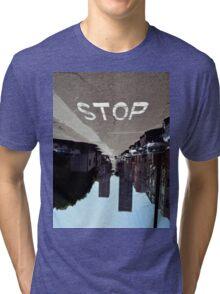 Stop Tri-blend T-Shirt