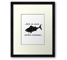 Riddles In The Dark (Fish) - The Hobbit Framed Print