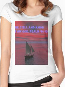 Be Still and Know I am God Women's Fitted Scoop T-Shirt