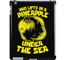 weight lifting iPad Case/Skin