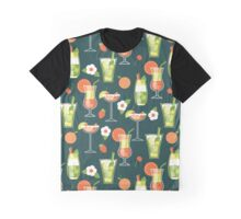 Tropical Drink Pattern Graphic T-Shirt