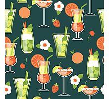 Tropical Drink Pattern Photographic Print