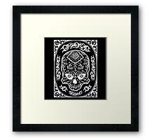 Skull Lace Framed Print