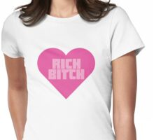 Rich Bitch Zef Heart Womens Fitted T-Shirt