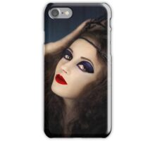 Portrait of young girl in gothic dress iPhone Case/Skin
