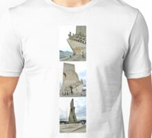 COLLAGE OF THE DISCOVERIES MONUMENT-LISBON,PORTUGAL Unisex T-Shirt