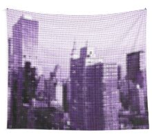 "Pixels Print ""PURPLE MANHATTAN"" Wall Tapestry"