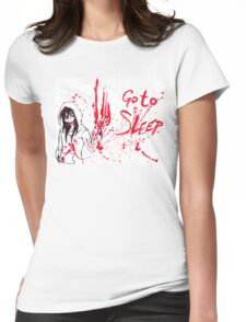 Jeff The Killer: Go To Sleep Womens Fitted T-Shirt