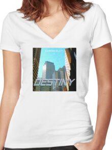 Casios Clay - Destiny Album Art Women's Fitted V-Neck T-Shirt