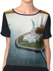 nyc skyline Chiffon Top