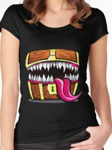 Mimic Chest - Dungeons & Dragons Monster Loot Women's Fitted Scoop T-Shirt