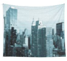 "Pixels Print ""TURQUOISE MANHATTAN"" Wall Tapestry"