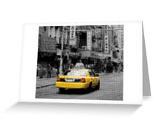 "Pixels Print ""YELLOW NYC TAXI"" Greeting Card"