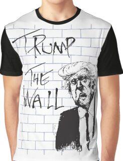 Trump - The Wall - Pink Floyd parody Graphic T-Shirt