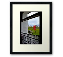 Red Telephone Booth Framed Print