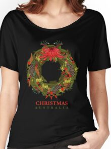 Christmas Australia Wildflower Wreath Women's Relaxed Fit T-Shirt