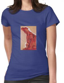 Egon Schiele - Composition With Three Male Figures Self Portrait 1911 Womens Fitted T-Shirt