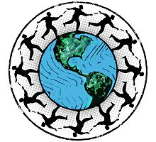 Disc Golfing Planet Earth by perkinsdesigns