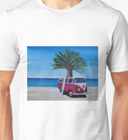 Surf Bus Series - Red Surf Bus at palm beach Unisex T-Shirt