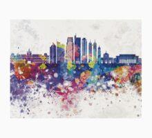 Manila V2 skyline in watercolor background One Piece - Short Sleeve