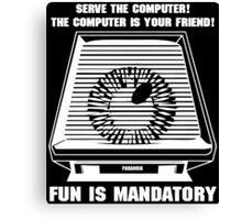Paranoia computer Canvas Print
