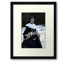 Noble widow cosplay Framed Print