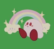 Pastel Rainbow Kirby - Kirby Kids Tee