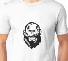 Male Big Beard Woodcut Unisex T-Shirt