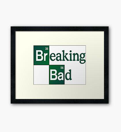 breaking bad  Framed Print