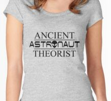 Ancient Astronaut Theorist (Black) Women's Fitted Scoop T-Shirt