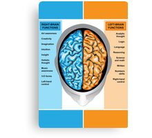 Human brain left and right functions Canvas Print