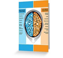 Human brain left and right functions Greeting Card