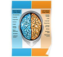 Human brain left and right functions Poster
