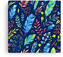Colorful Watercolor Flowers Canvas Print