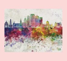 Milwaukee V2 skyline in watercolor background One Piece - Long Sleeve