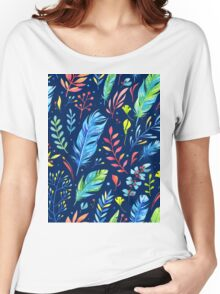 Colorful Watercolor Flowers Women's Relaxed Fit T-Shirt