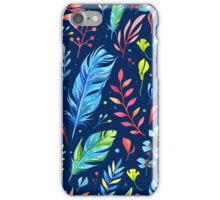 Colorful Watercolor Flowers iPhone Case/Skin