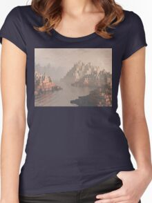 Canyon Landscape With River Women's Fitted Scoop T-Shirt